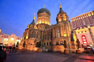 Saint Sophia Cathedral. One of the must go place in Harbin.