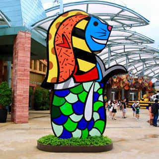 Colorful merlion at sentosa