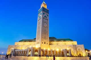 Hassan ii mosque, although not able to go in to but still amazed by the view outside!