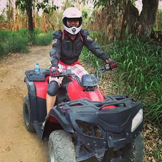 Awesome ATV jungle ride.... Never tried this before. Especially for a guy who doesn't know how to drive, that's tough, but I made it.. Awesome !!