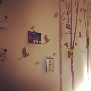 Wall of postcards... Lovely..